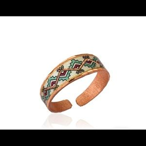 Western rainbow design adjustable ring